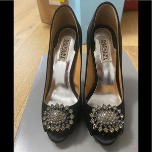 BADGLEY MISCHKA/Size 7 /Black/Satin /Heels